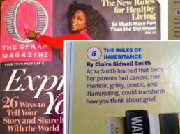 Oprah Magazine | Claire Bidwell Smith